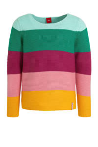 s.Oliver gestreepte trui roze/multicolor