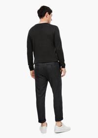 s.Oliver BLACK LABEL gemêleerde slim fit pantalon antraciet, Antraciet