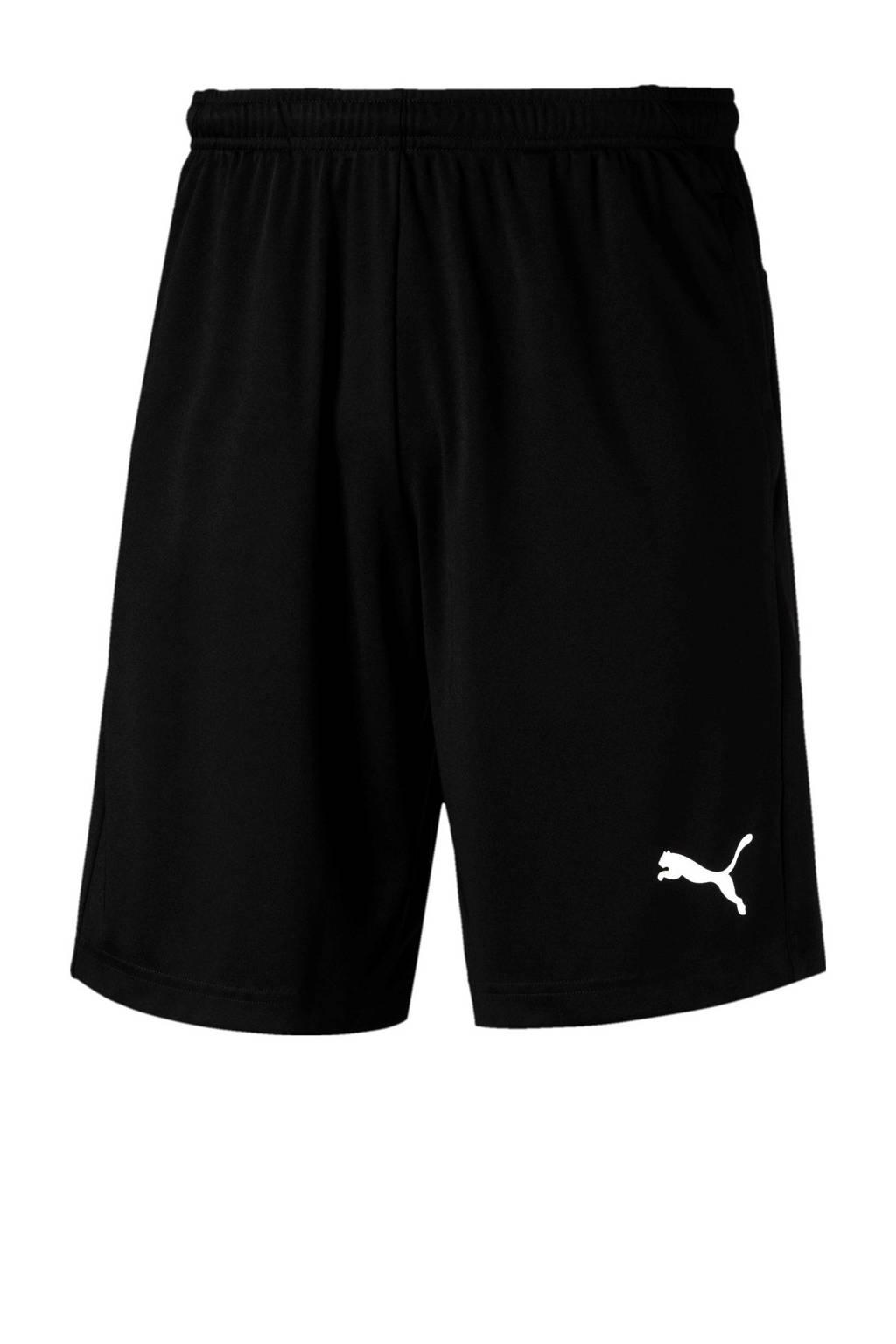Puma   voetbalshort zwart, Zwart