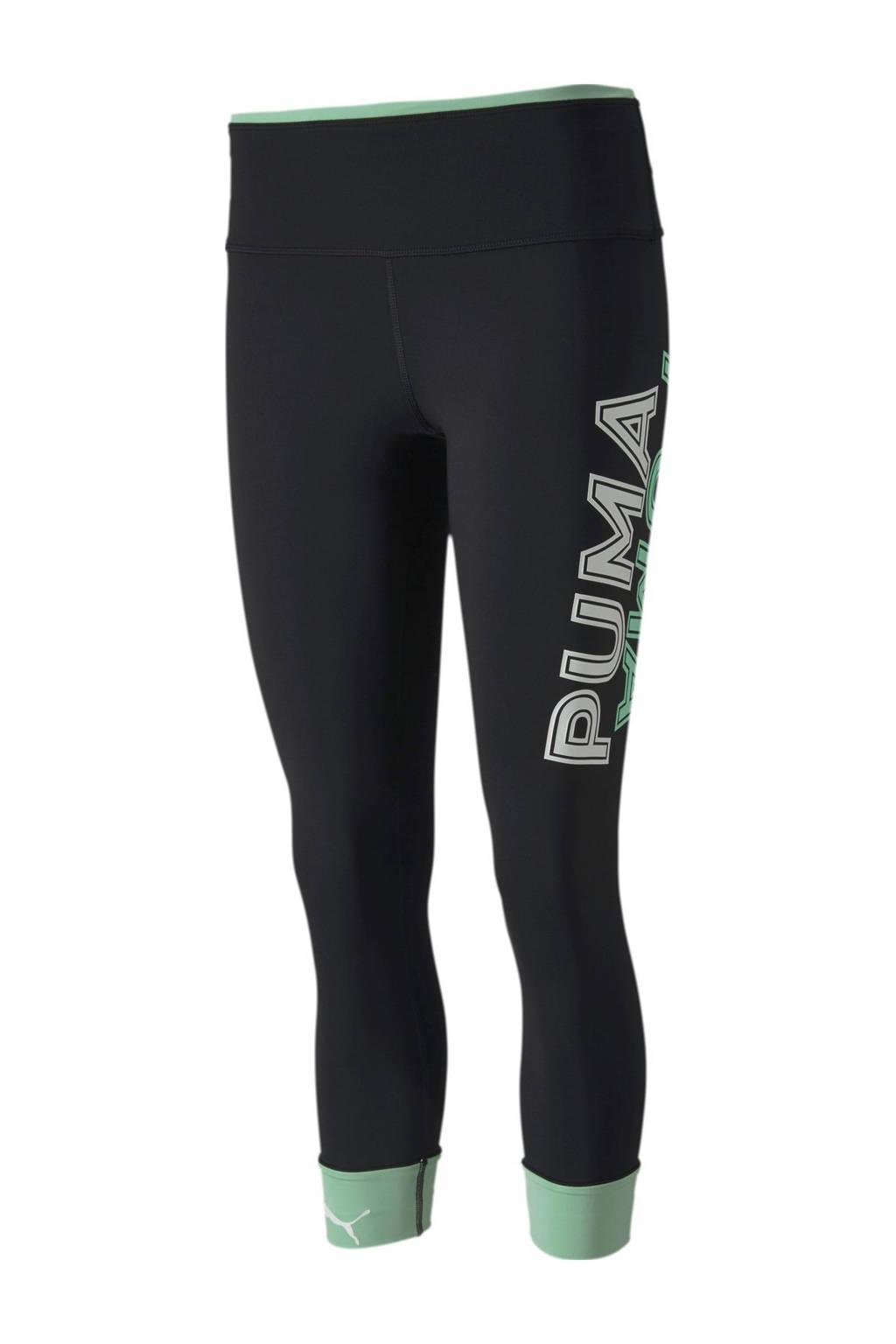Puma legging zwart/groen, Zwart/groen
