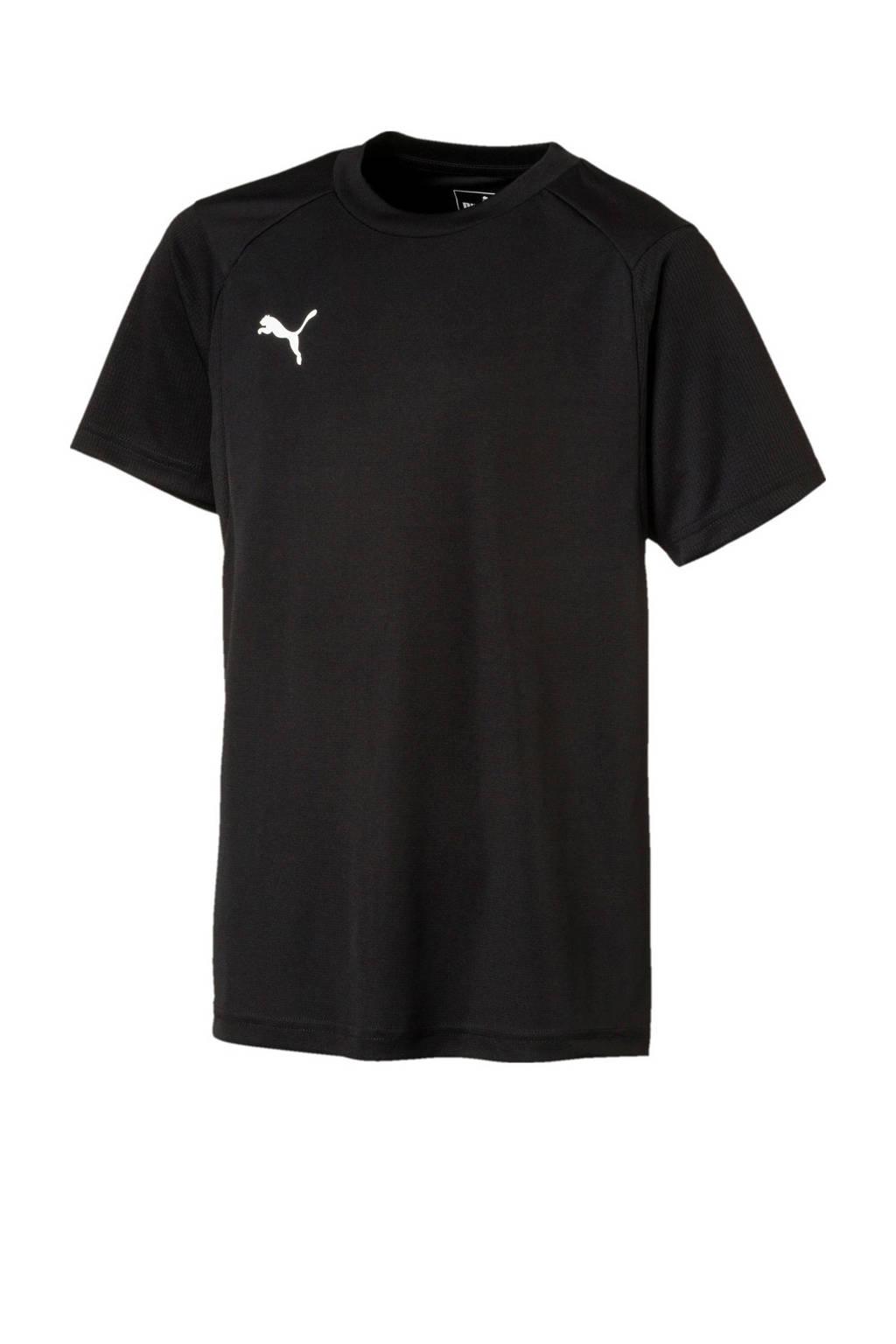 Puma Junior  voetbal T-shirt zwart, Zwart