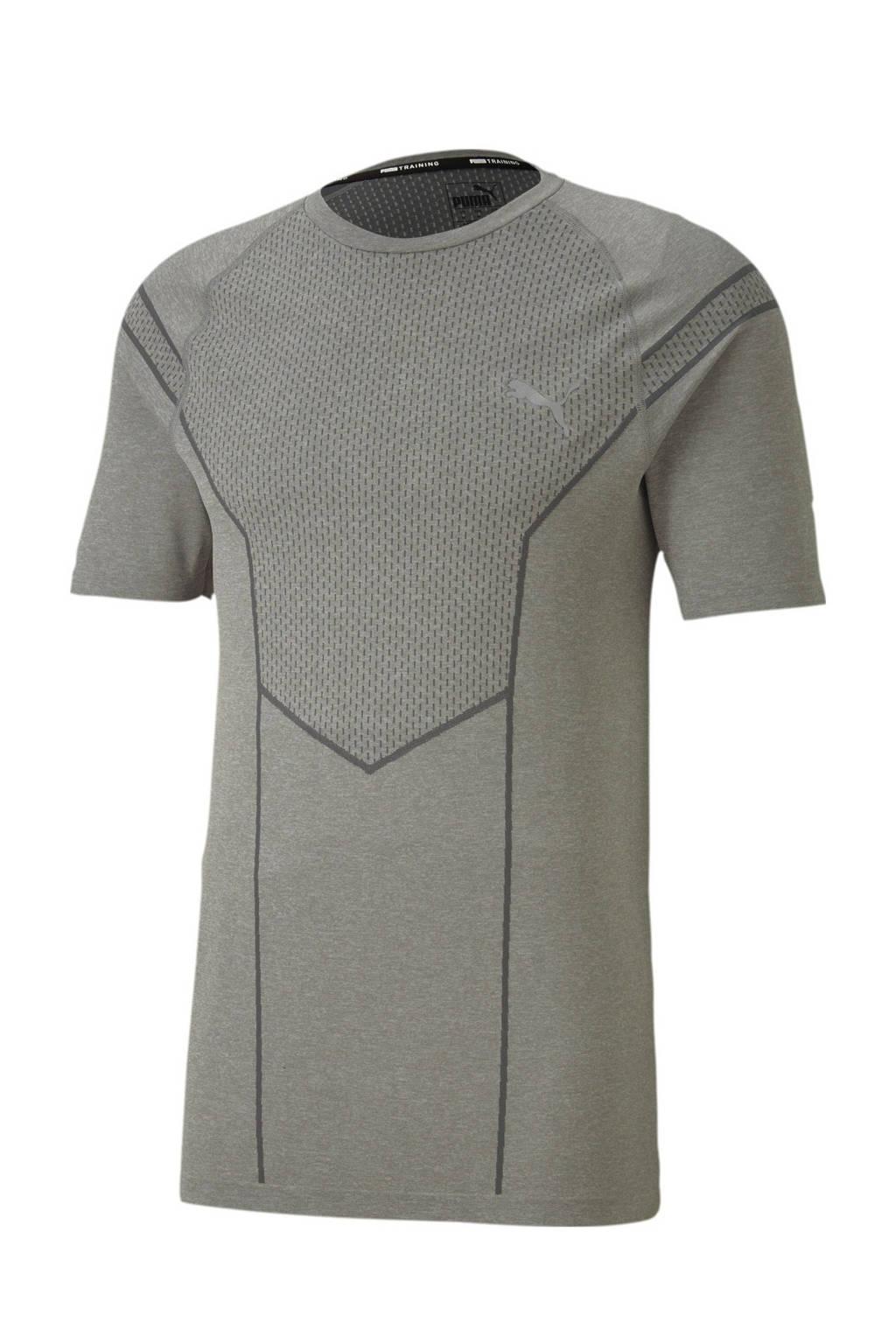 Puma   sport T-shirt grijs melange, Grijs melange