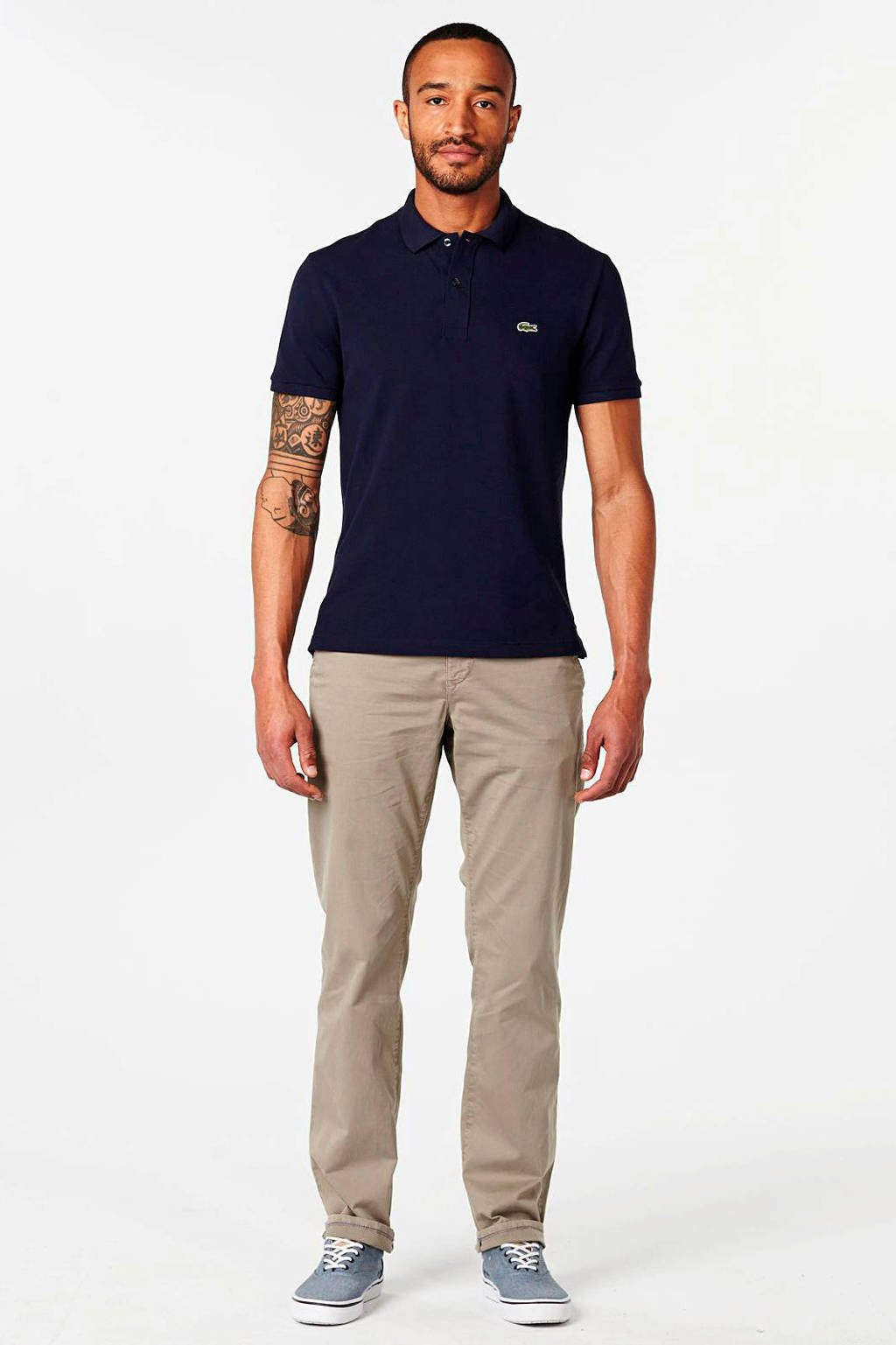 Lacoste slim fit polo, Donkerblauw