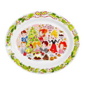 serveerbord Christmas (Ø29x19,5 cm)