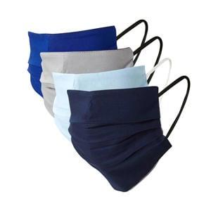 unisex mondkapje - set van 4 blauw/grijs