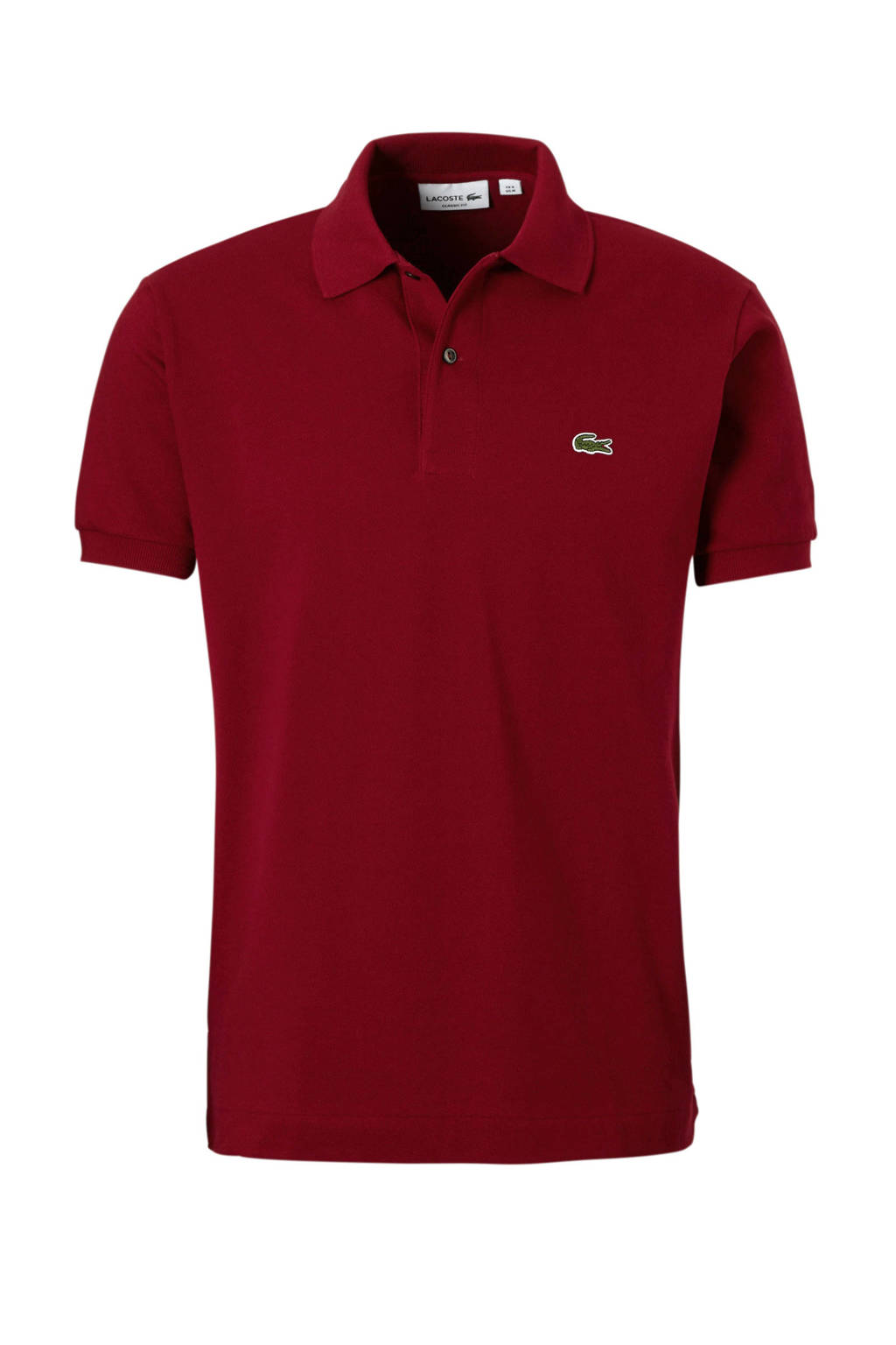 Lacoste classic fit polo, Donkerrood
