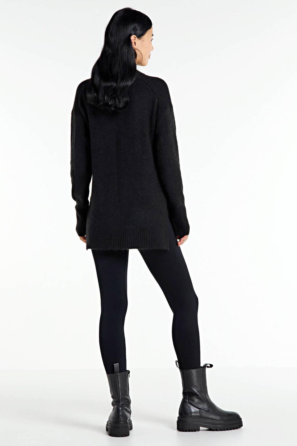Soaked In Luxury gemêleerde trui Angel zwart melange, Zwart melange