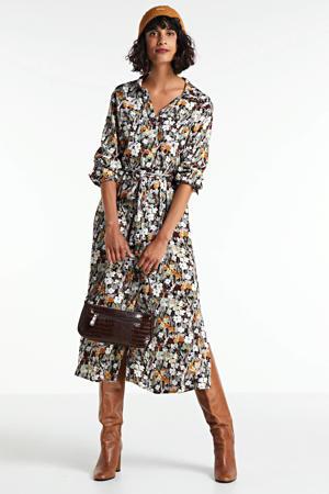 gebloemde blousejurk Mori Halima ecru
