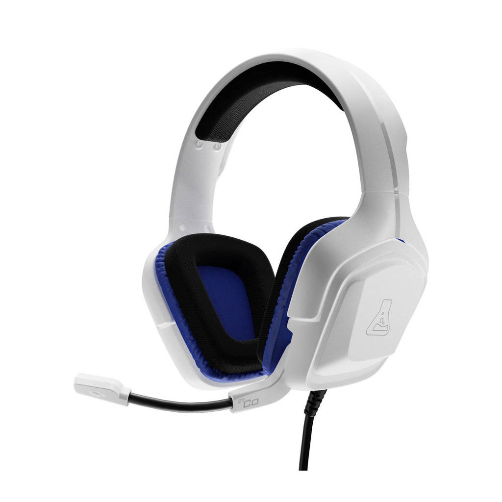The G-Lab  Cobalt gaming headset, Wit