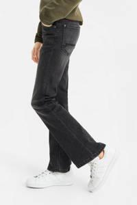 WE Fashion Blue Ridge super skinny fit flared jeans grijs stonewashed, Grijs stonewashed