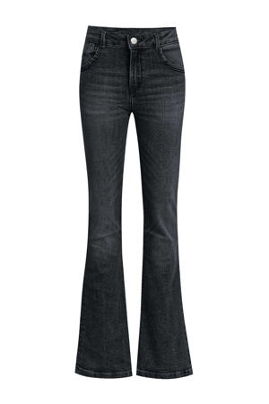 super skinny fit flared jeans grijs stonewashed