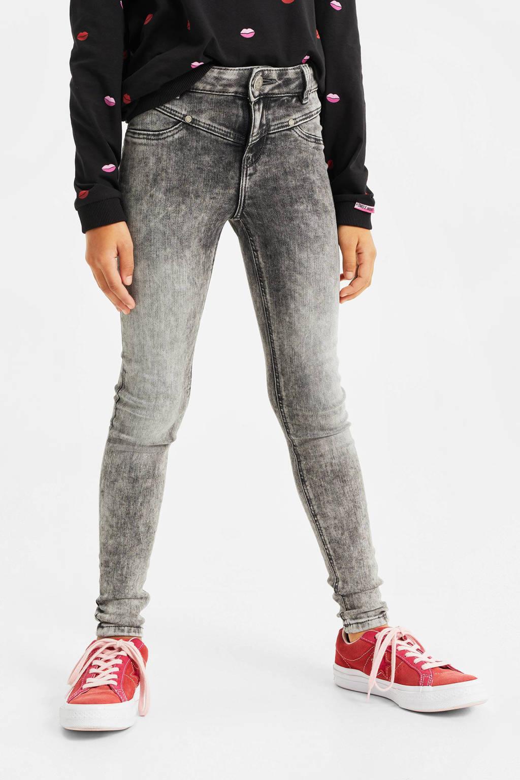 WE Fashion Blue Ridge super skinny jeans grijs stonewashed, Grijs stonewashed