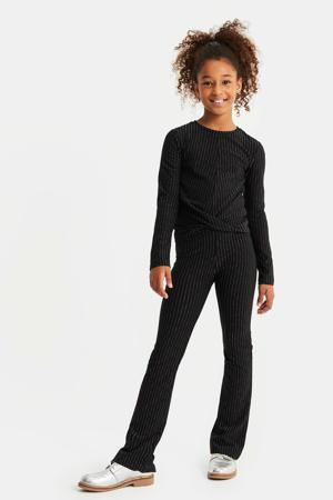 skinny fit legging met glitters zwart