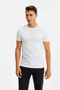 WE Fashion Fundamentals T-shirt - set van 2 zwart/wit, Zwart/wit