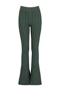 CoolCat Junior gestreepte flared broek Phileine groen, Groen