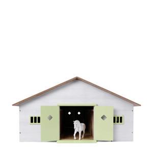 Paardenstal met 7 boxen schaal 1:24
