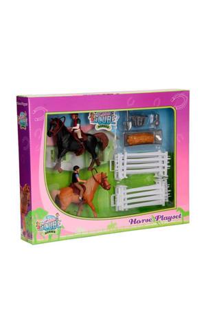 Paarden met ruiters en accessoires
