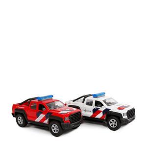 auto's hulpdiensten met licht en geluid 2 stuks
