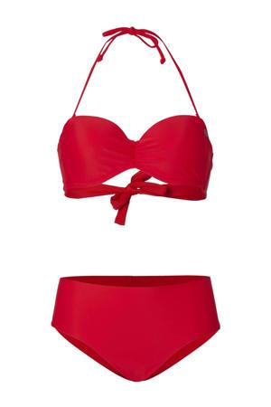 strapless bandeau bikini Havaa rood