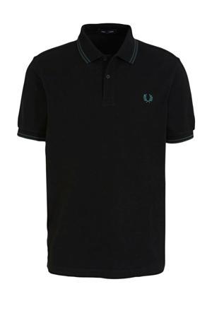 regular fit polo zwart/blauw