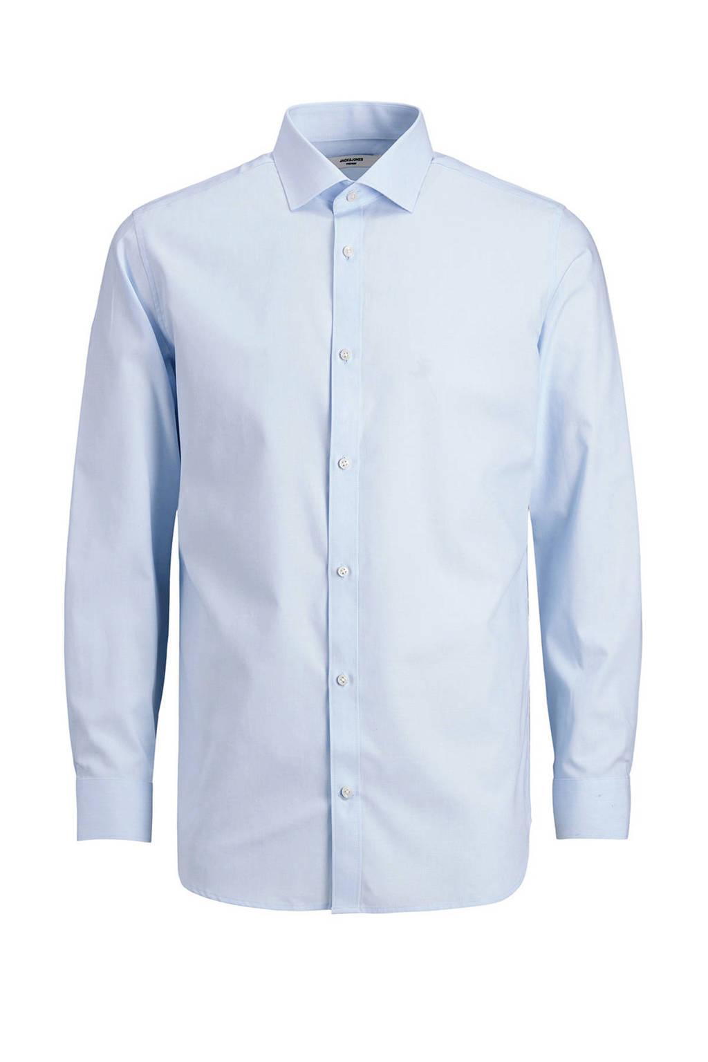 JACK & JONES PREMIUM slim fit overhemd JPRBLAROYAL van biologisch katoen lichtblauw, Lichtblauw