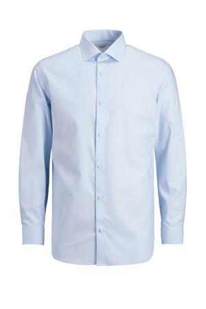 slim fit overhemd JPRBLAROYAL van biologisch katoen lichtblauw