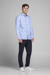 JACK & JONES PREMIUM slim fit overhemd blauw, Blauw