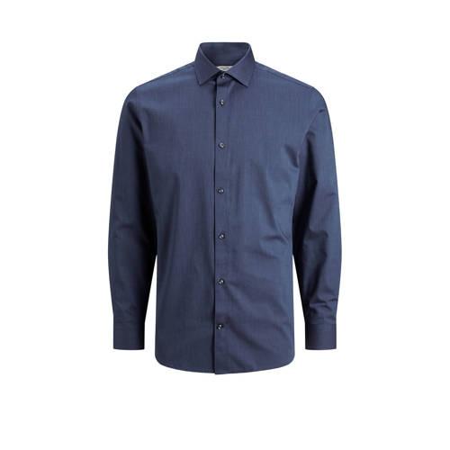 JACK & JONES PREMIUM slim fit overhemd Blaroyal donkerblauw