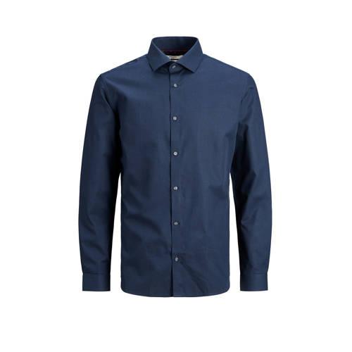 JACK & JONES PREMIUM slim fit overhemd donkerblauw
