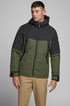 winterjas groen/zwart