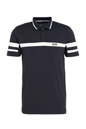 polo donkerblauw/wit