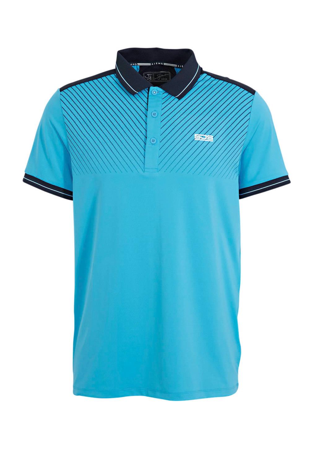 Sjeng Sports   polo blauw/donkerblauw, Blauw/donkerblauw