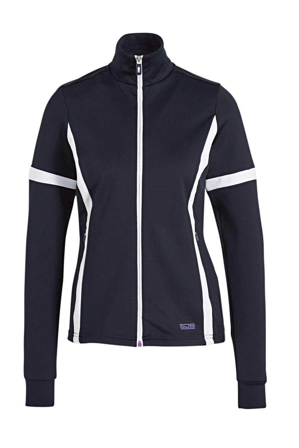 Sjeng Sports sportvest Jazzy donkerblauw/wit, Donkerblauw/wit