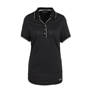 Plus Size sportpolo zwart