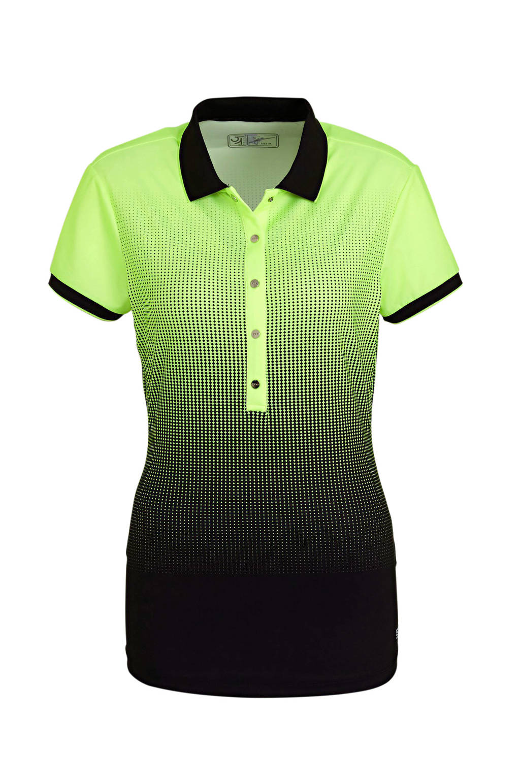Sjeng Sports polo Krissy limegroen/zwart, Limegroen/zwart