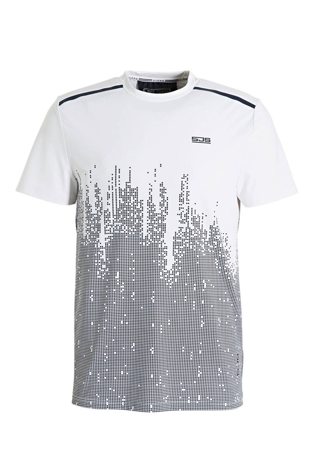 Sjeng Sports   T-shirt wit/donkerblauw, Wit/donkerblauw