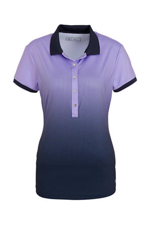 polo Krissy paars/donkerblauw