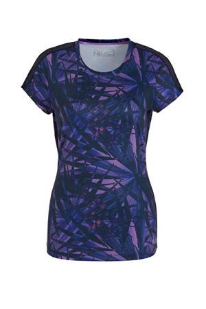 T-shirt donkerblauw/paars
