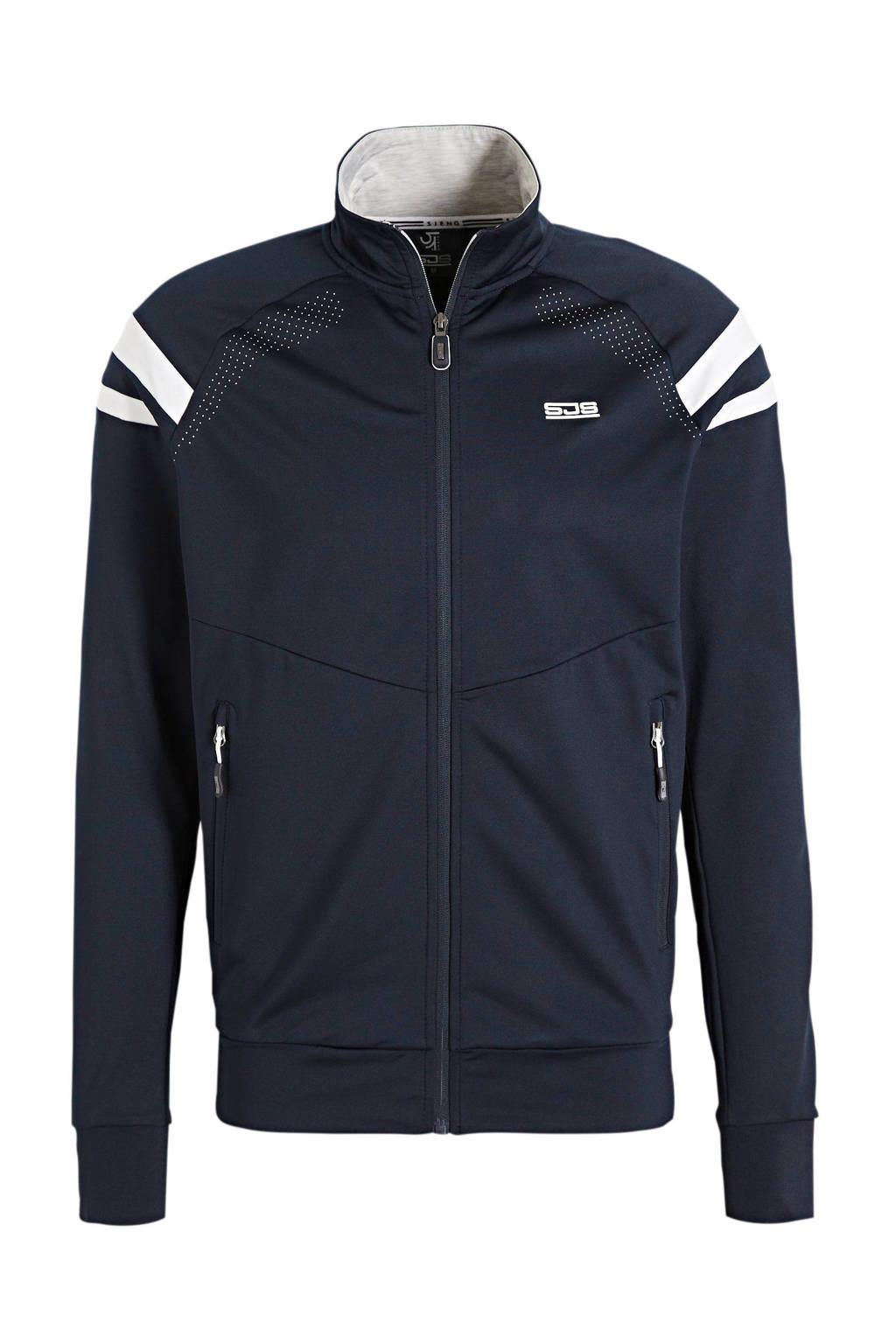 Sjeng Sports   vest donkerblauw/wit, Donkerblauw/wit