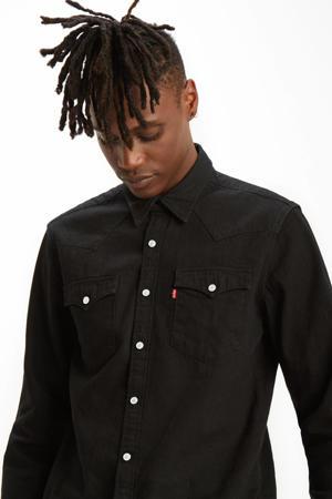 regular fit denim overhemd Barstow Western marble black