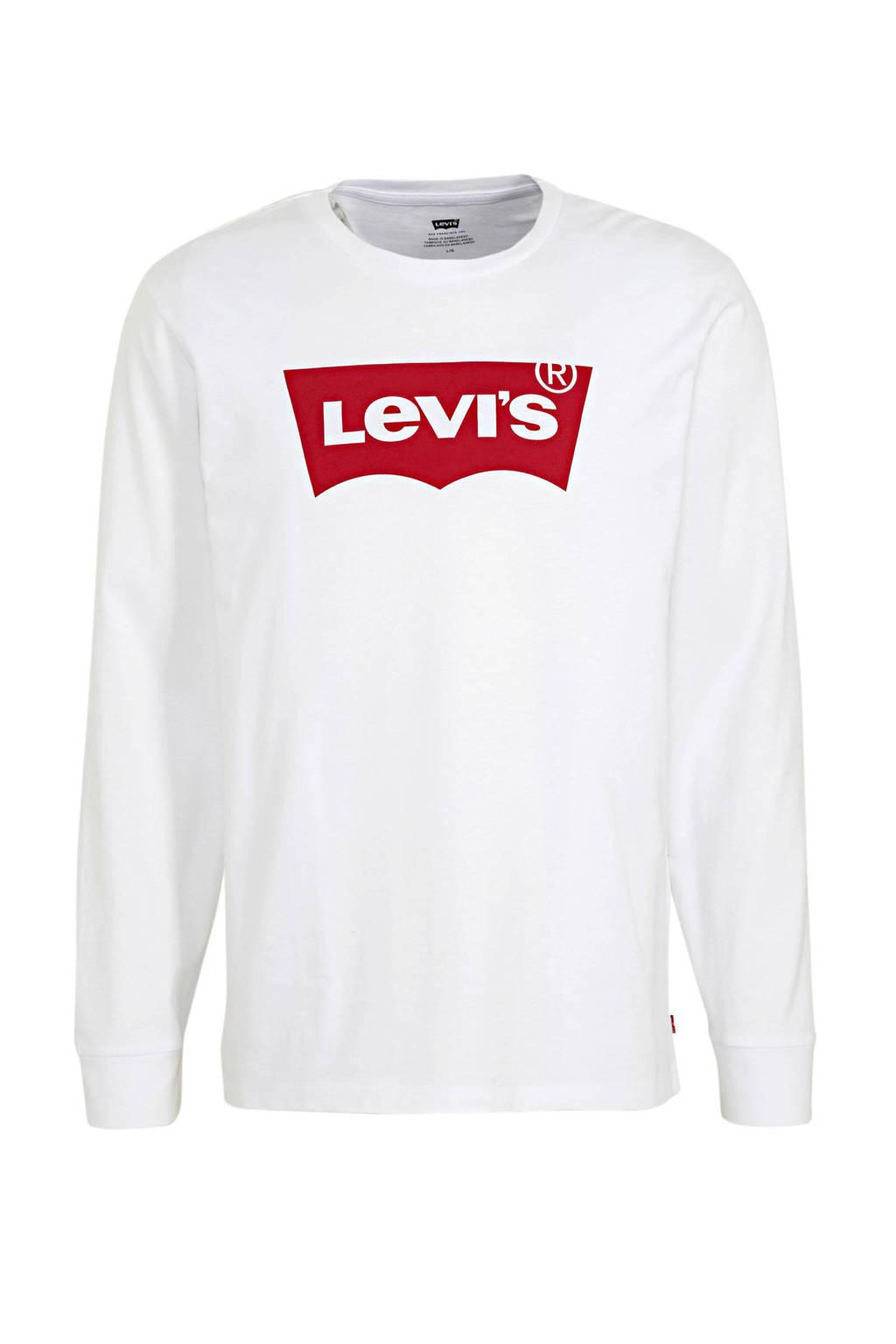 Levi's longsleeve met logo wit, Wit