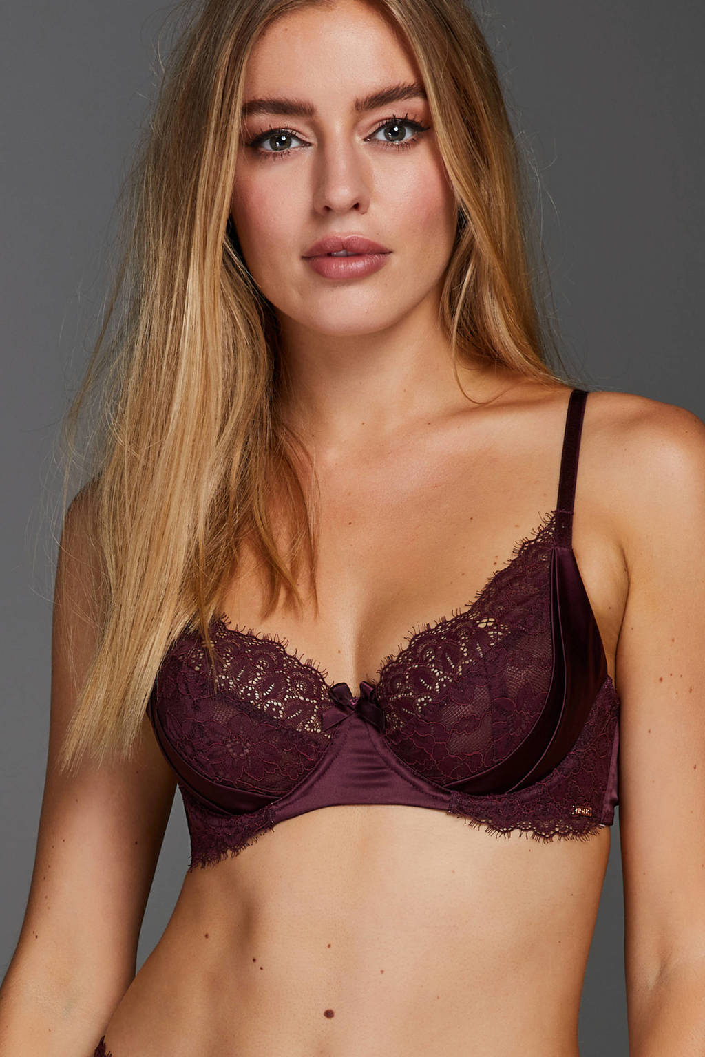 Hunkemöller Noir beugelbh Nadia bordeauxrood, Bordeauxrood
