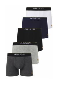 Lyle & Scott boxershort Jackson (set van 5), Zwart/blauw/grijs/wit