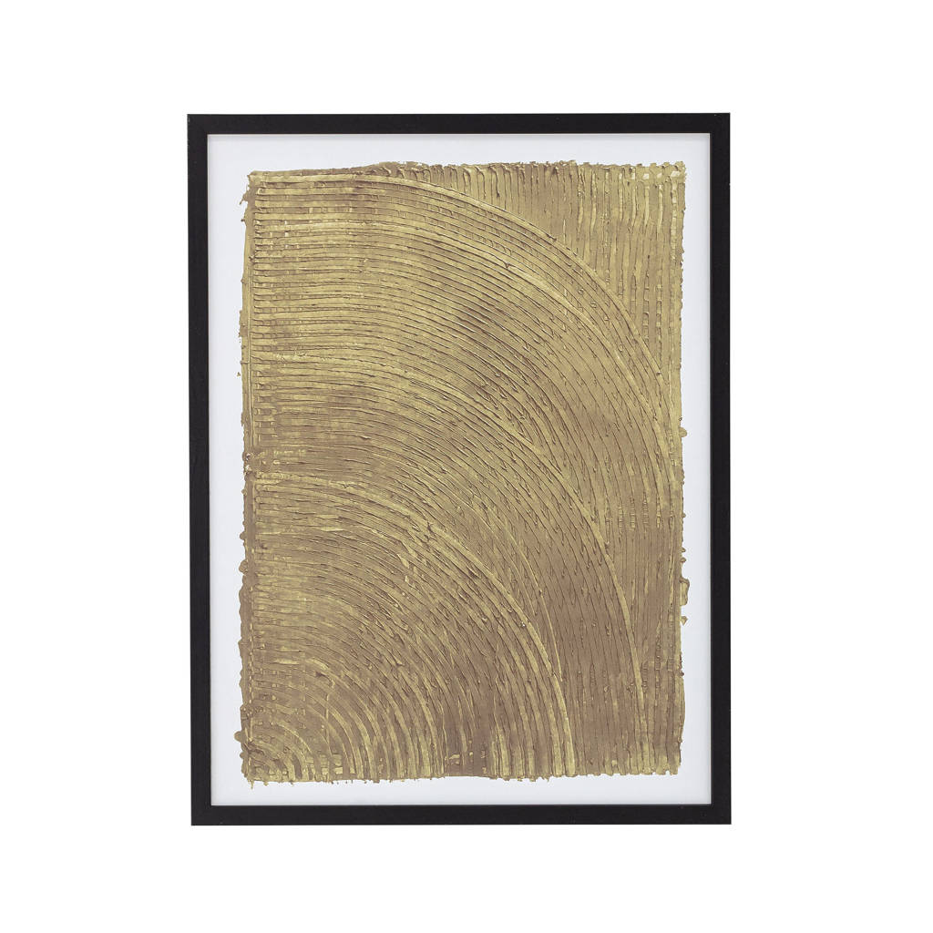 Bloomingville schilderij  (32x1x42 cm), Zwart/goud