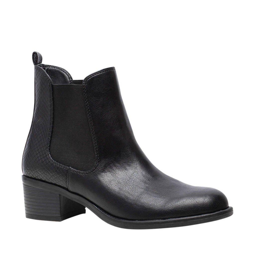Scapino Nova   enkellaarzen zwart, Zwart