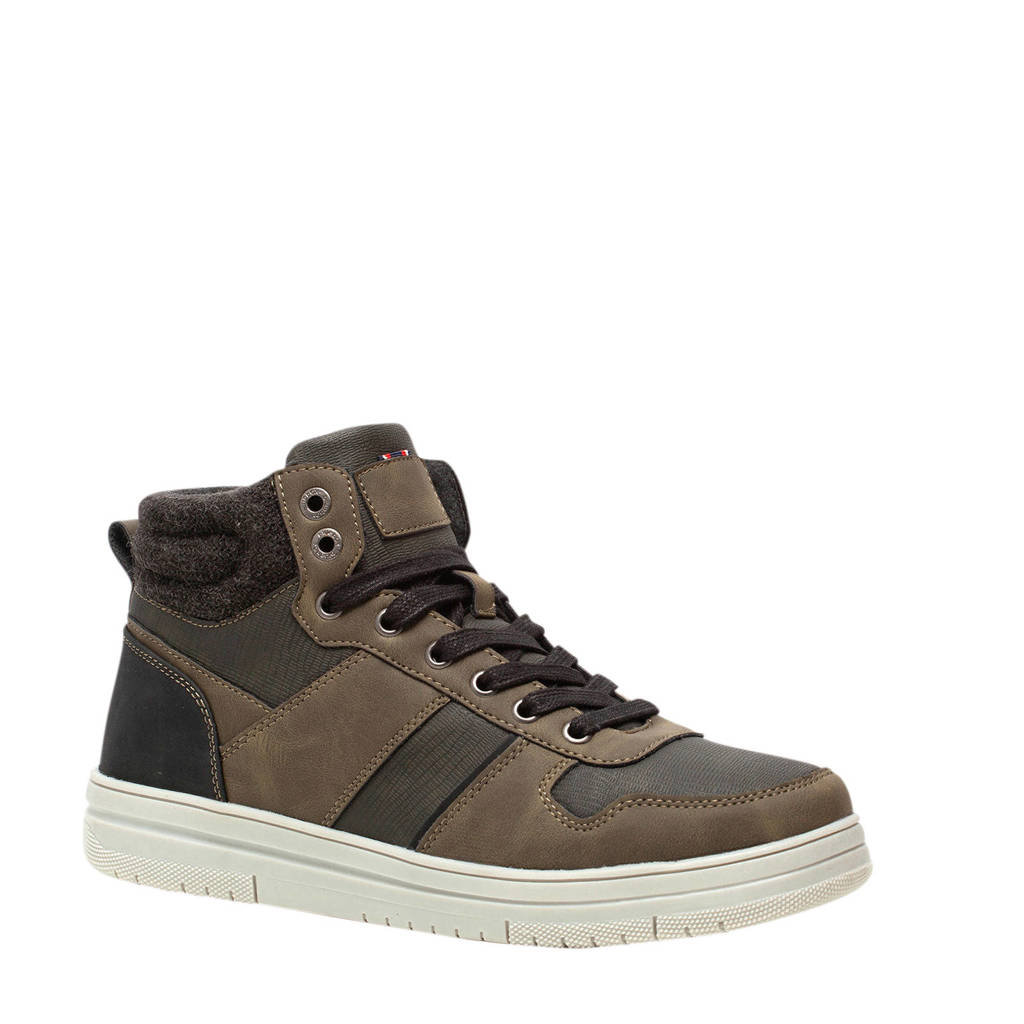 Scapino Blue Box   sneakers donkerbruin, Groen