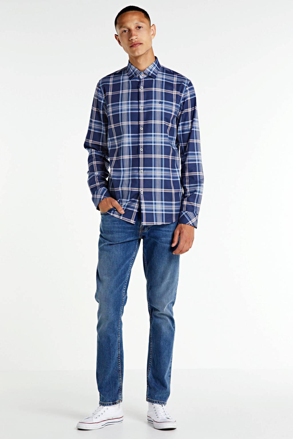 Vanguard geruit regular fit overhemd blauw, Blauw