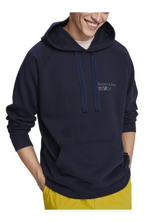hoodie van biologisch katoen donkerblauw