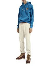 Scotch & Soda hoodie met printopdruk blauw, Blauw