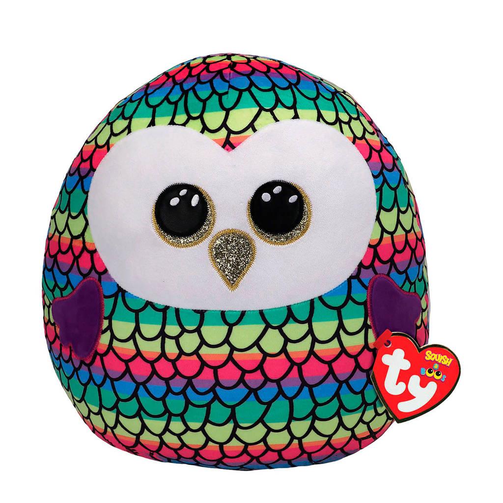 Ty Squish a Boo Owen Owl knuffel 31 cm